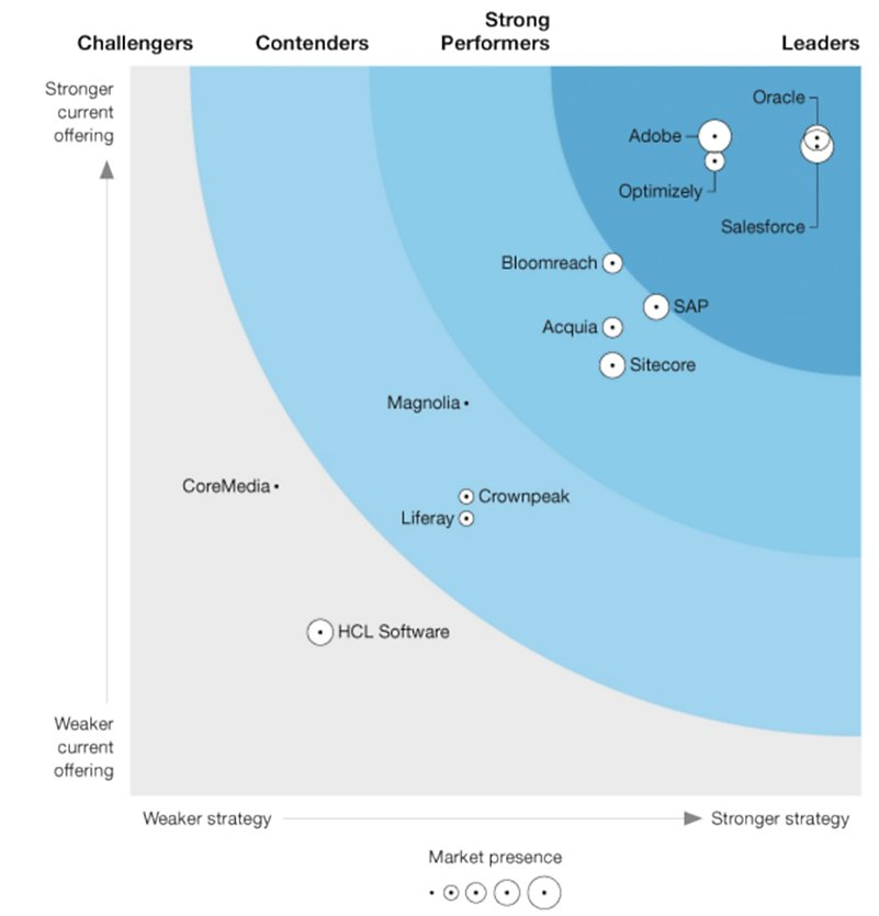 Source: The Forrester Wave™: Digital Experience Platforms, Q3 2021