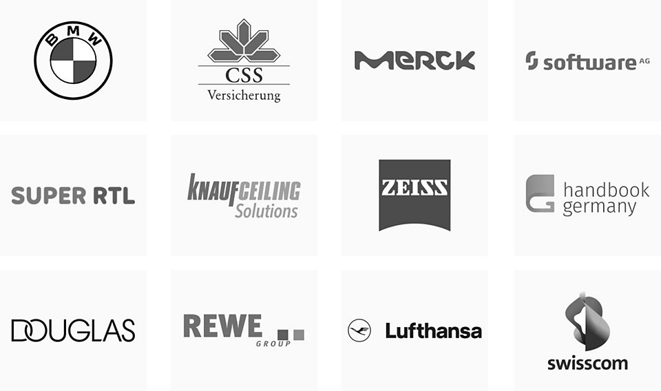 Logos: BMW, Signify, Lenovo, SAZERAC, HALLHUBER, Uber East, Golden State Warriors, Under Armour, Helly Hansen, LAFAYETTE 148, BevMo!, TRUIST.