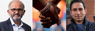 Shantanu Narayan, an image of clasped hands and Scott Belsky
